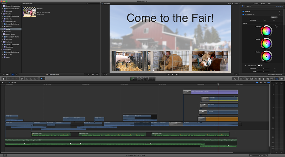 FCPXtimeline