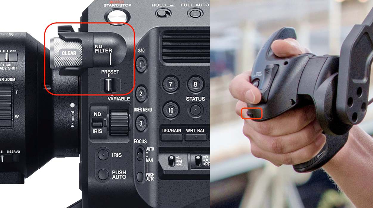 ND controls on the FS7 II
