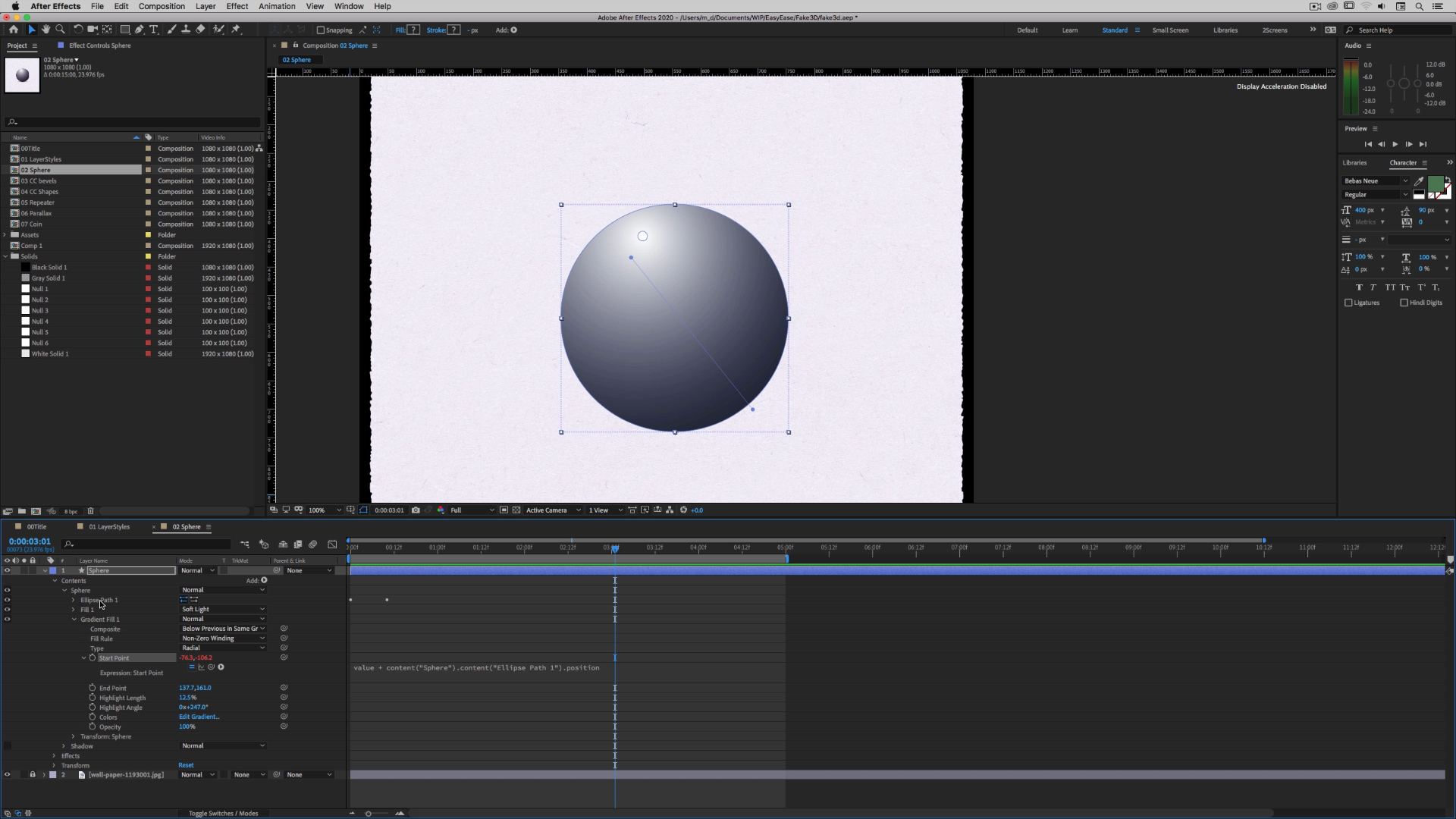 Faking 3D in After Effects 4