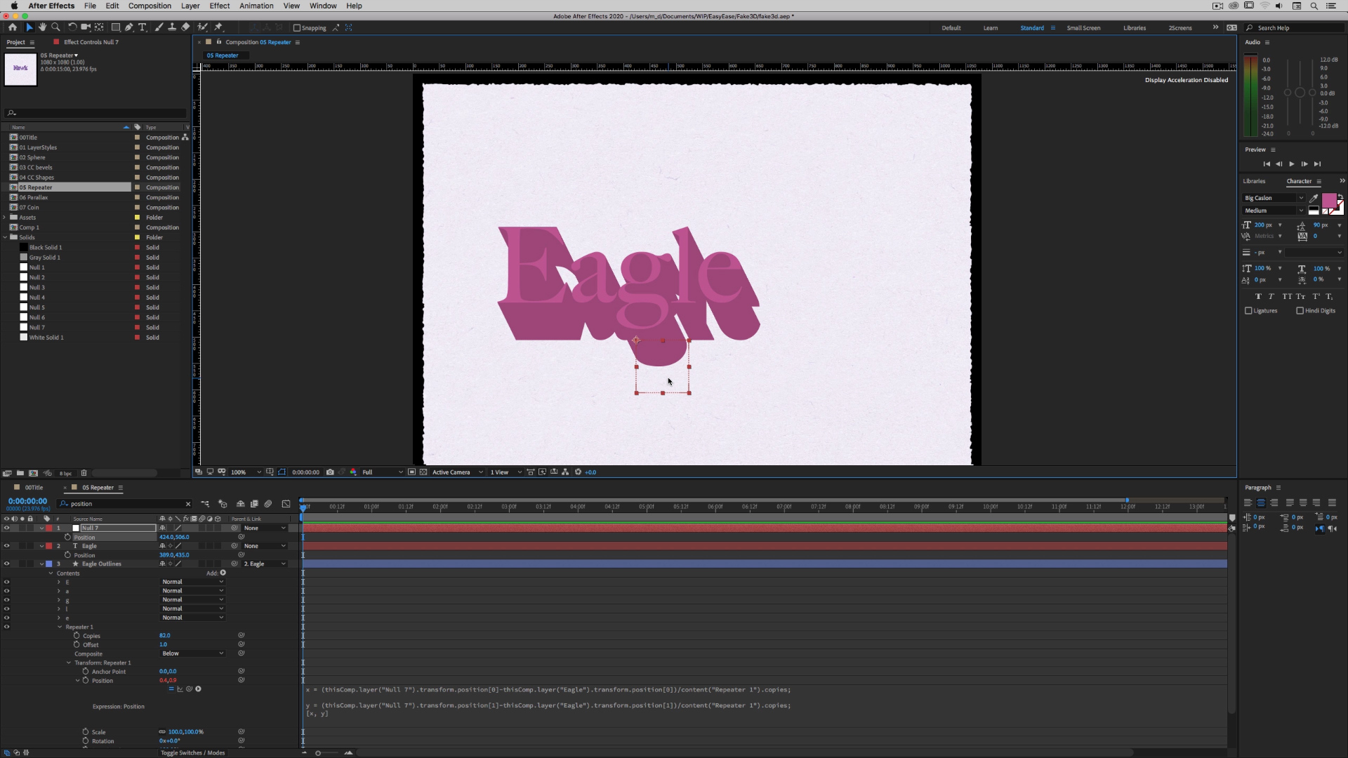 Faking 3D in After Effects 3