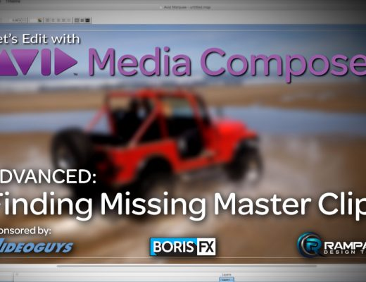 Let's Edit with Media Composer - Finding Missing Master Clips 3