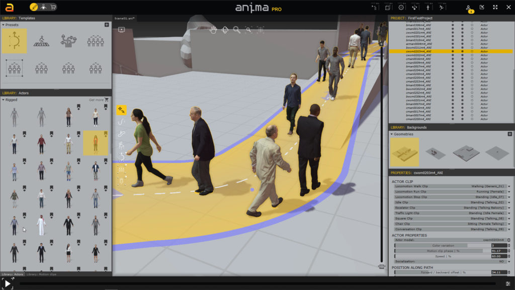 COVID-Compliant Crowd Scenes on a Budget using Anima 7
