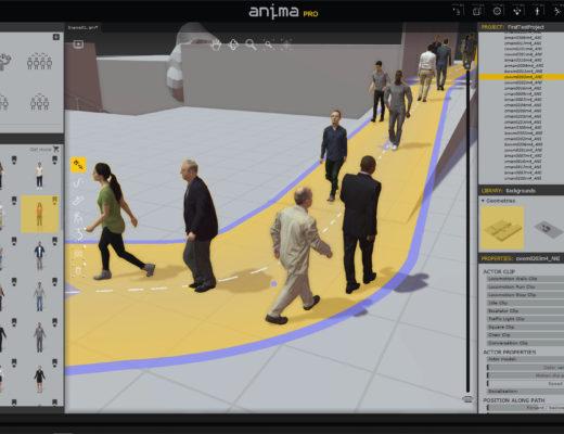 COVID-Compliant Crowd Scenes on a Budget using Anima 10