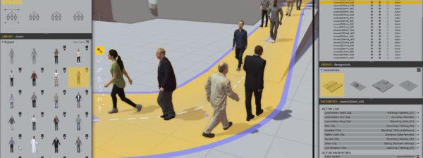 COVID-Compliant Crowd Scenes on a Budget using Anima 2