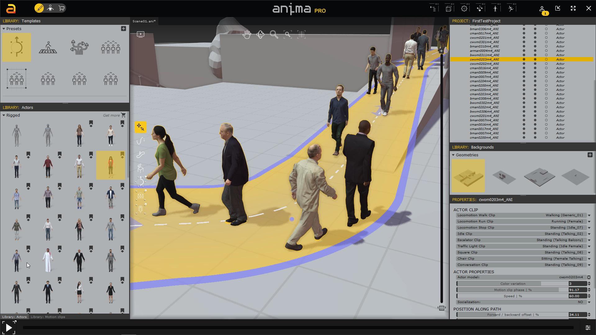 COVID-Compliant Crowd Scenes on a Budget using Anima 41