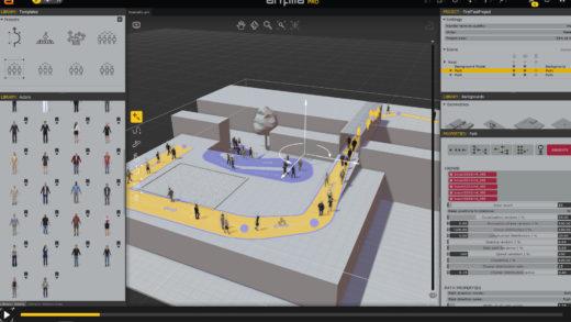 COVID-Compliant Crowd Scenes on a Budget using Anima 8