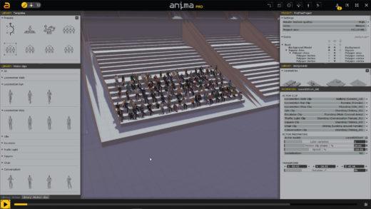 COVID-Compliant Crowd Scenes on a Budget using Anima 9