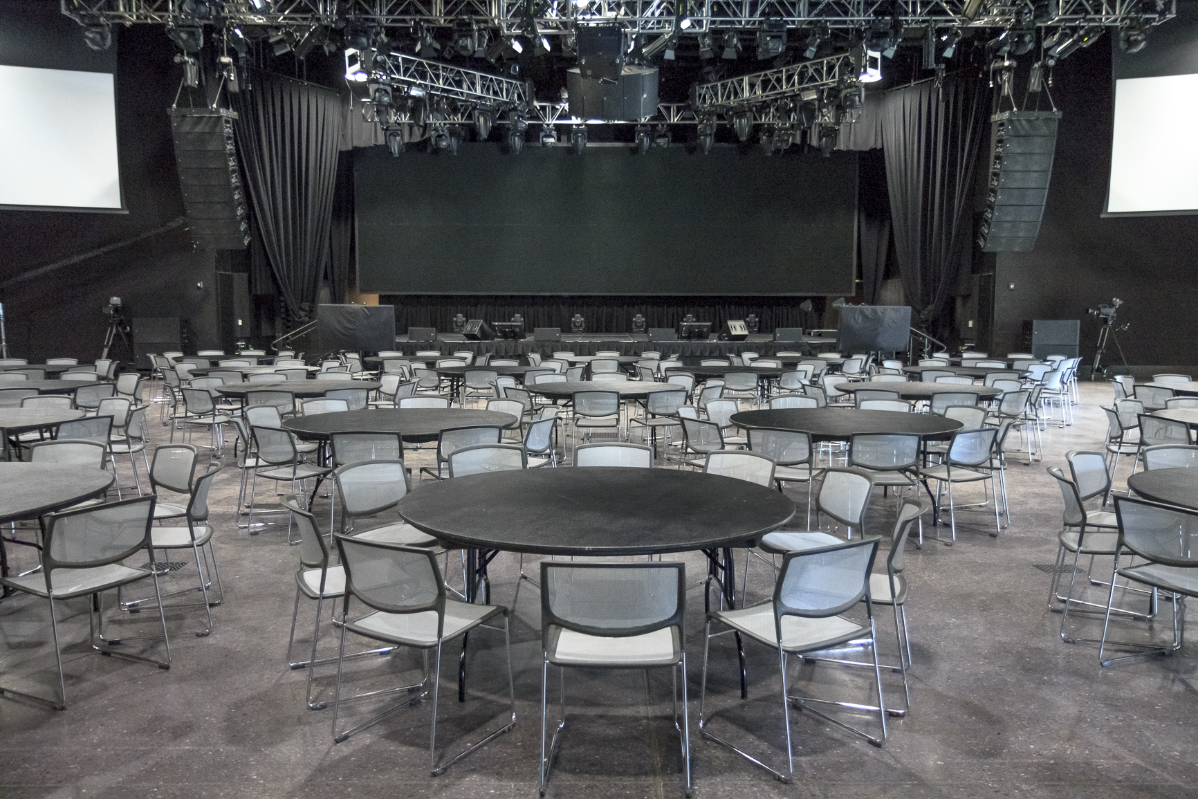 One of the spaces used for WWE and Music
