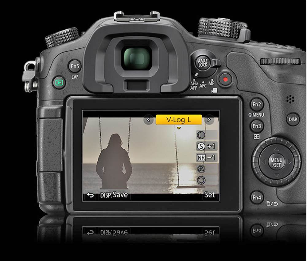 GH4 V-Log L display, courtesy Panasonic