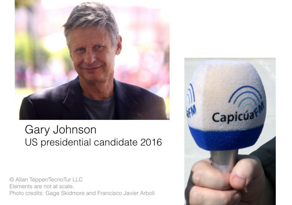 How I interviewed presidential candidate Gary Johnson with a digital mic from Italy 1