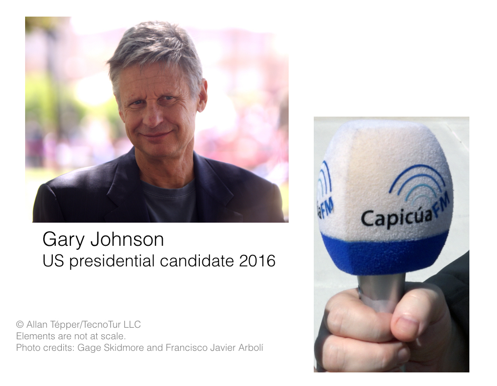 How I interviewed presidential candidate Gary Johnson with a digital mic from Italy 9