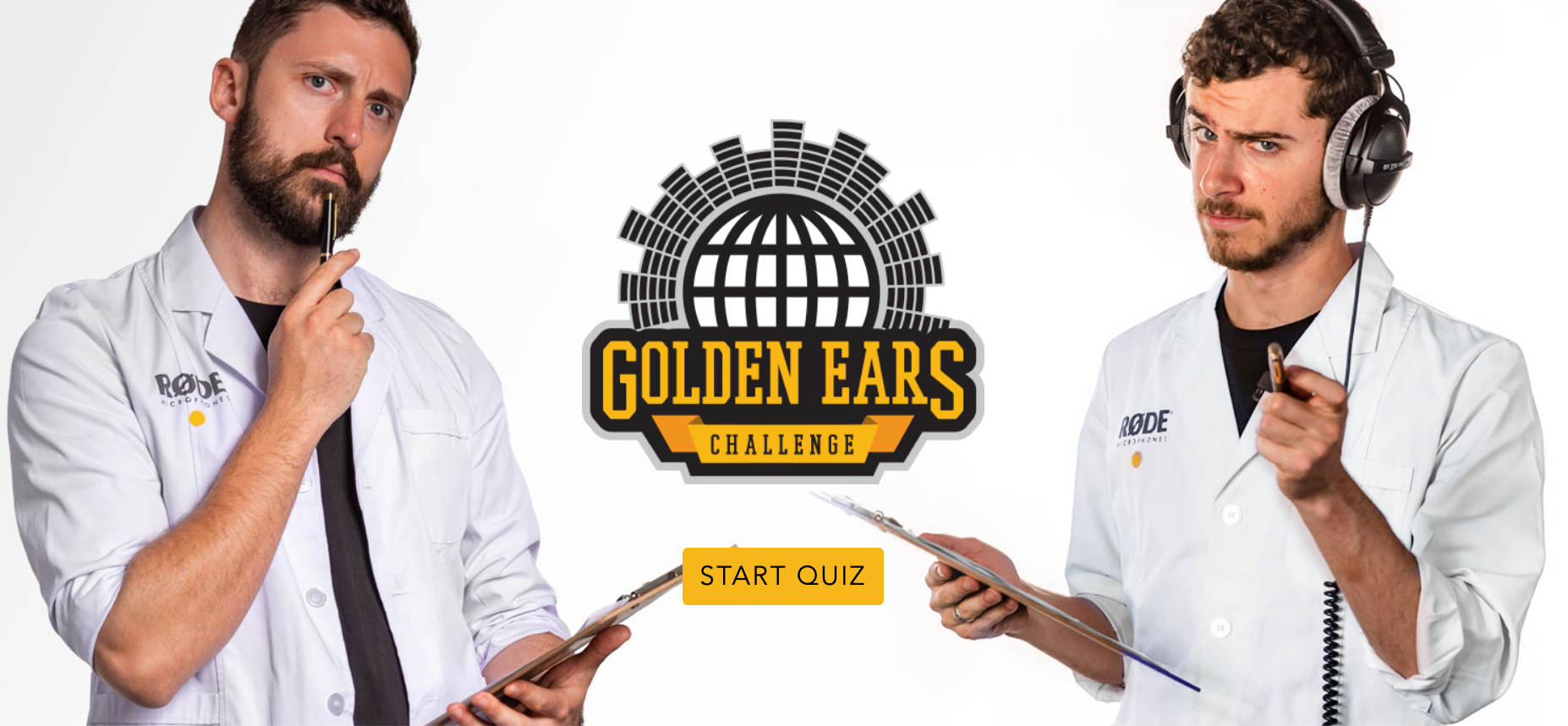 RØDE's 'Golden Ears' Challenge': Take the quiz and perhaps win 8