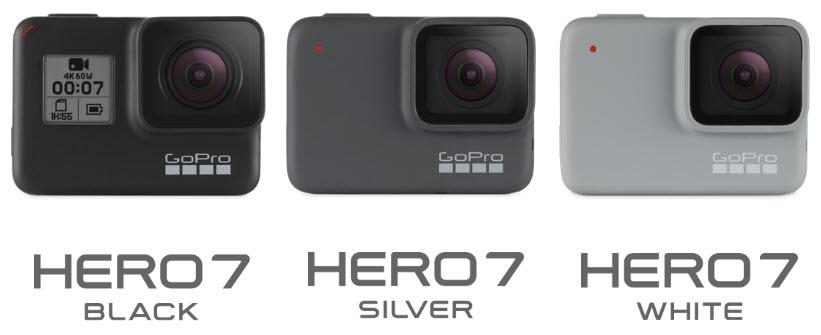 GoPro HERO7 Black, Silver and White Comparisons 2