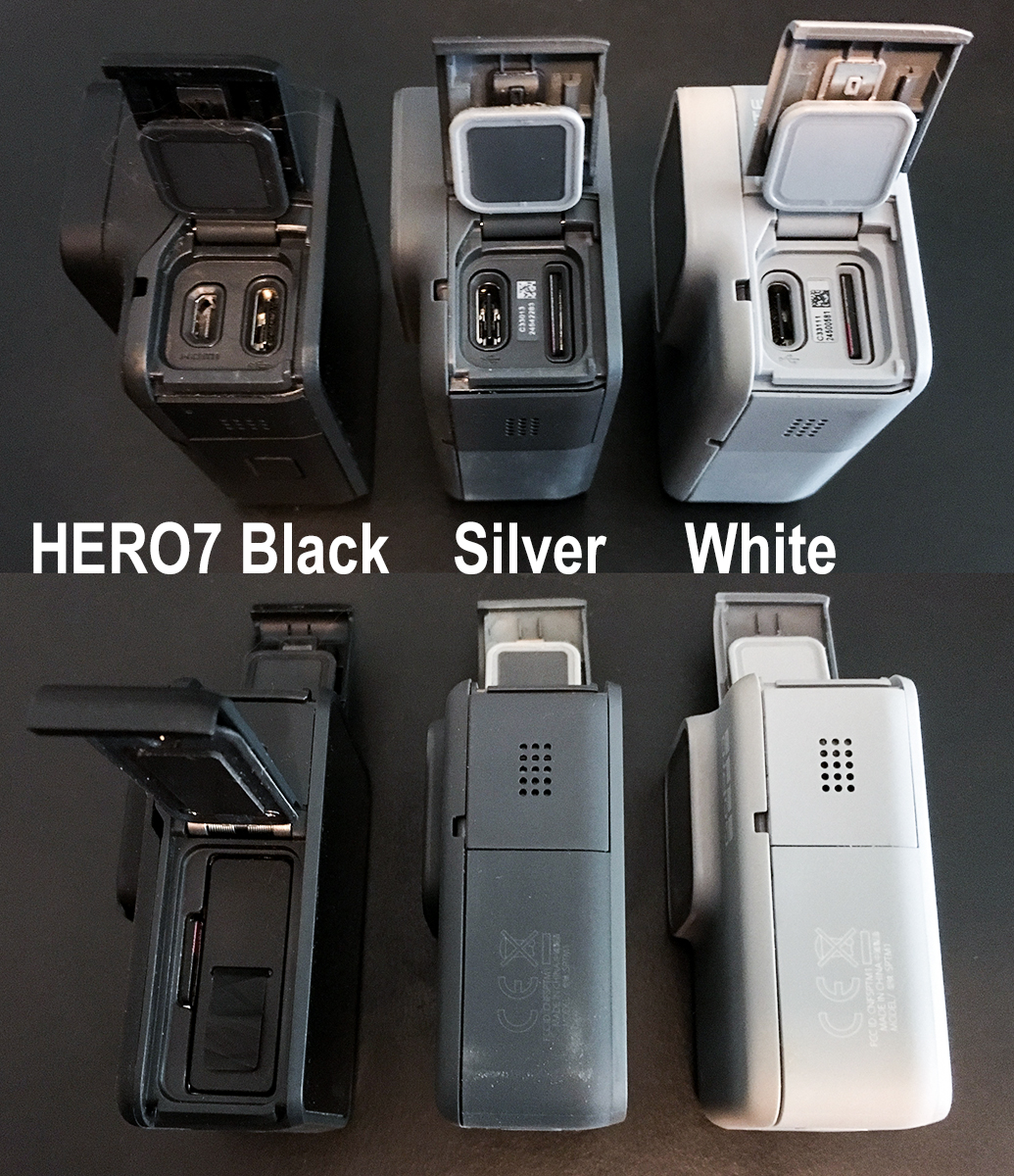 GoPro HERO7 Black, Silver and White Comparisons by Jeff
