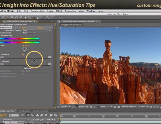After Effects Classic Course: Hue Saturation Tips 3