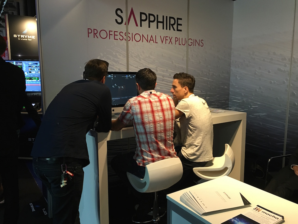 The Sapphire booth at IBC 2016.