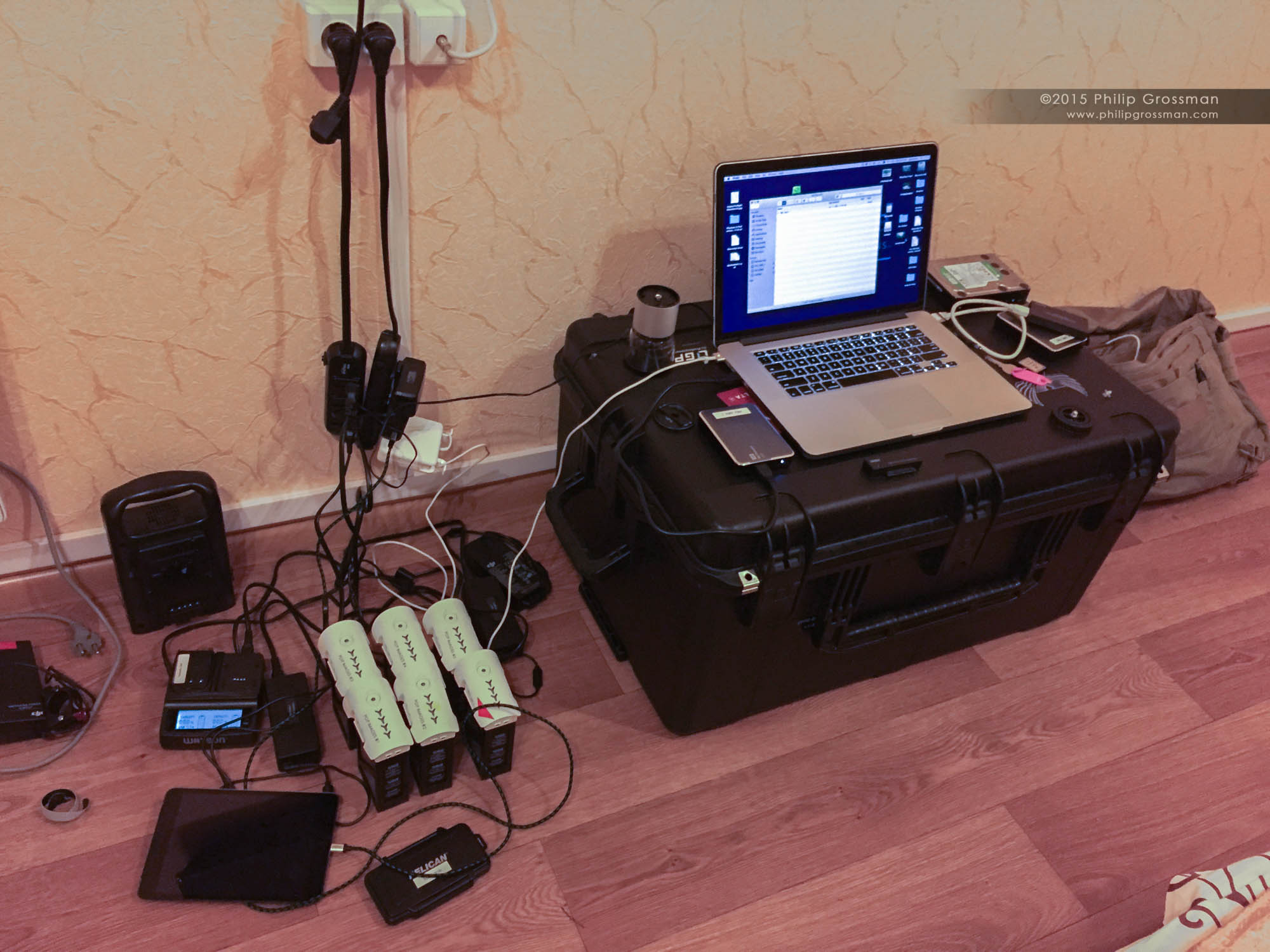 "Philip's ""production"" set up in his room."