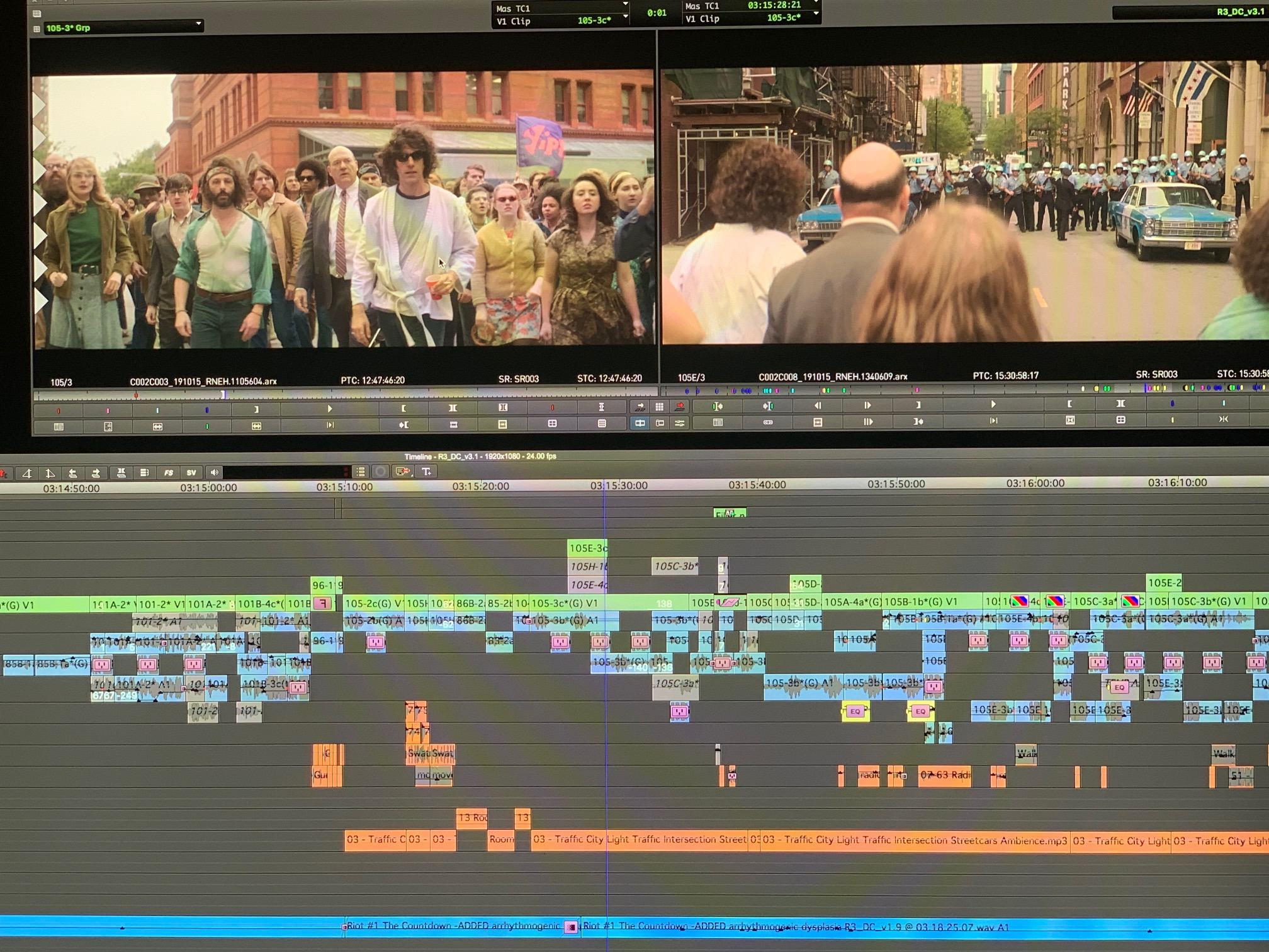 """ART OF THE CUT WITH Alan Baumgarten, ACE on editing """"The Trial of the Chicago 7"""" 4"""