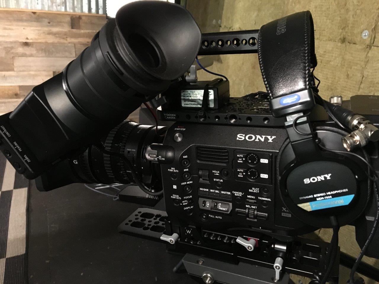 Sony's FS7 camera and MDR-7506 headphones in use at Lake Pointe Church