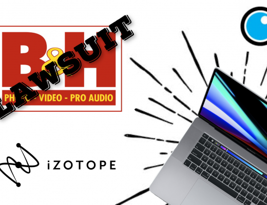 PVC podcast b&h lawsuit, izotope new product, MacBook Pro