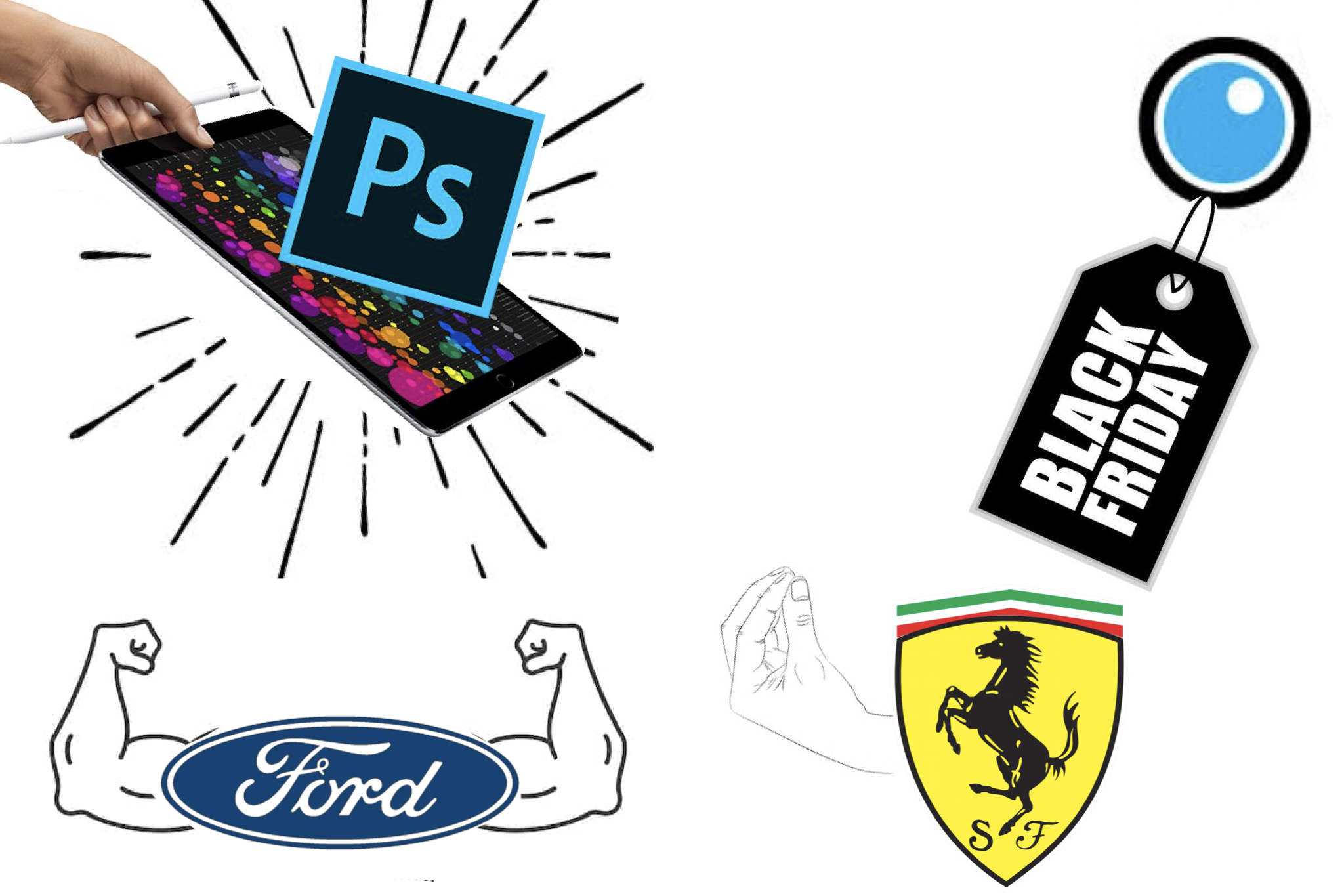 Ford vs Ferrari sound, photoshop for iPad Pro, Black Friday and more