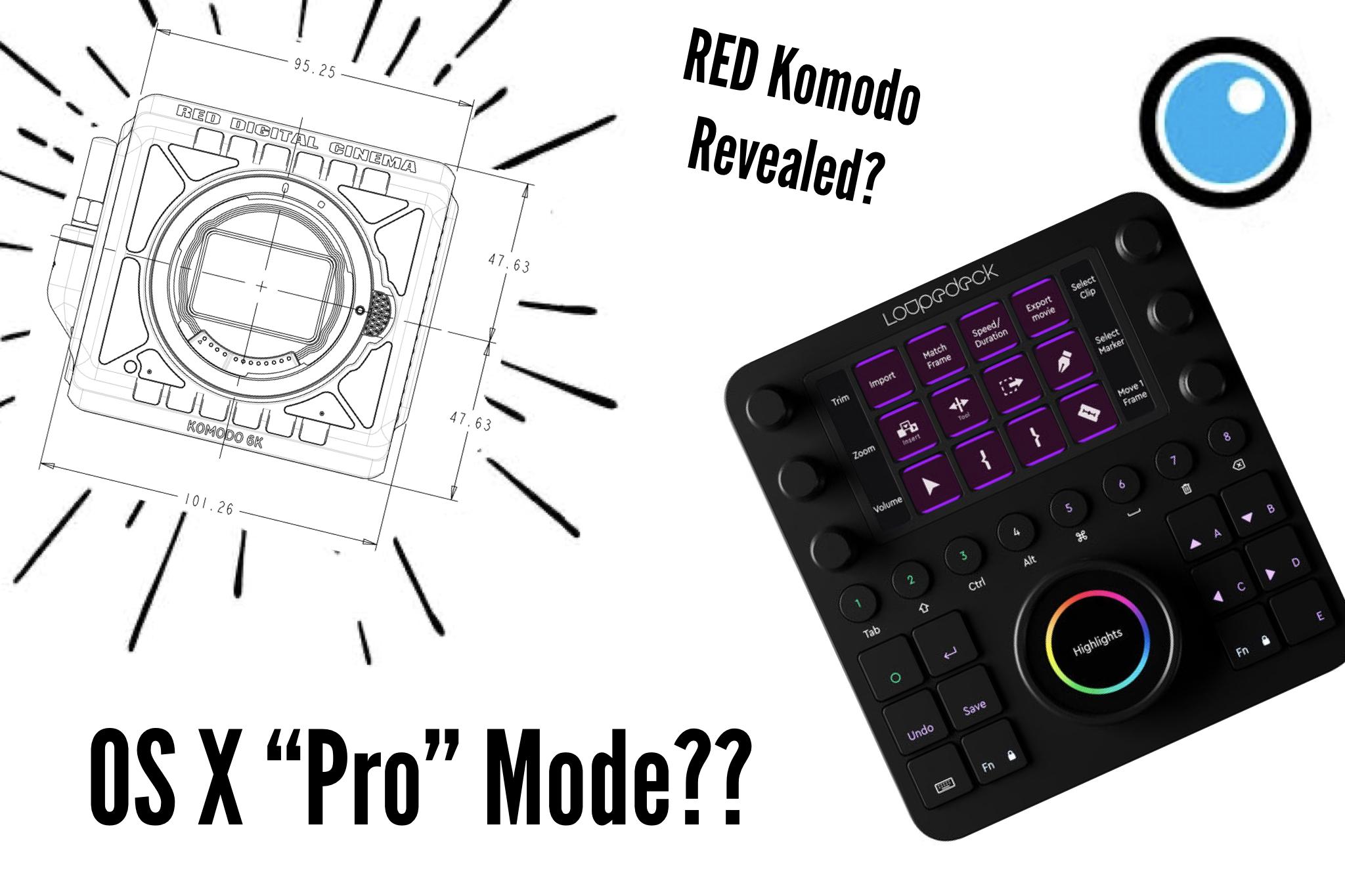 RED Komodo, Loupedeck, OS X Pro PVC podcast eps 12
