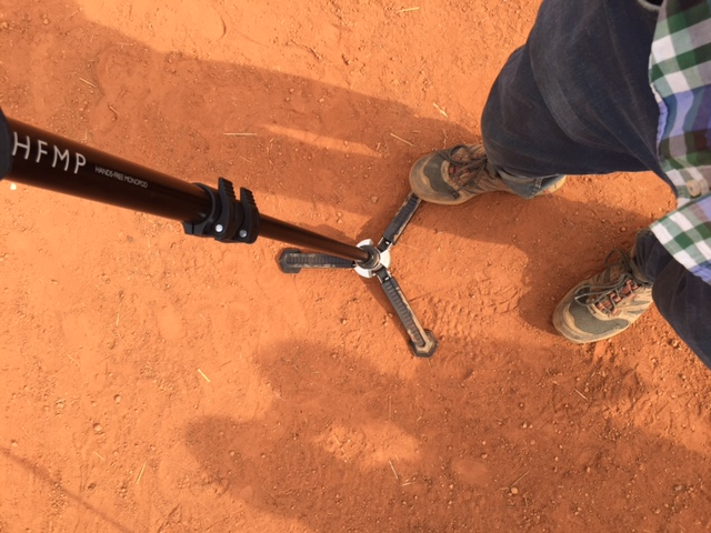 Utilizing the feet on the Libec HFMP Monopod