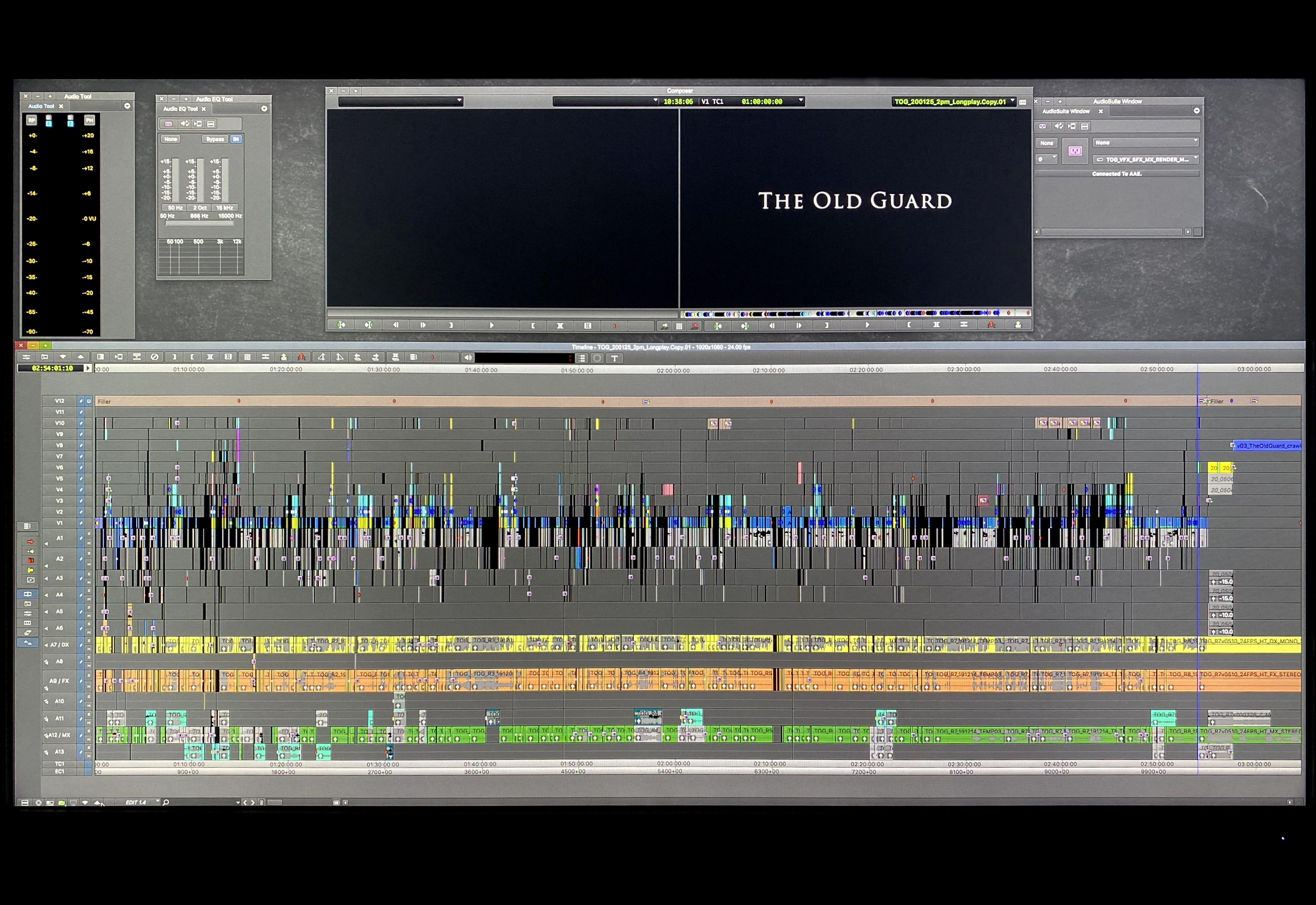 The Old Guard Avid timeline