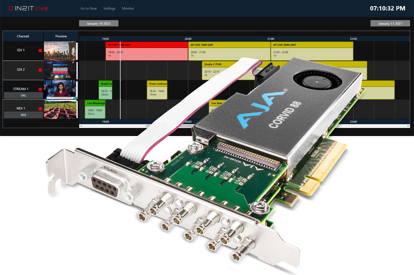 AJA I/O technology used for Woody Technologies' IN2IT