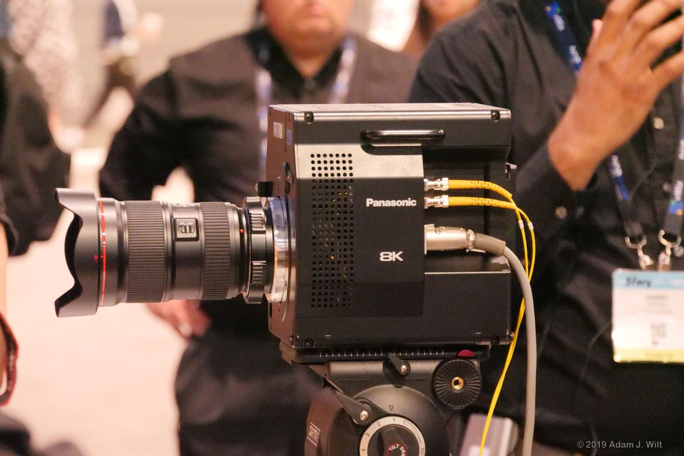 One 8K camera with a wide-angle lens...