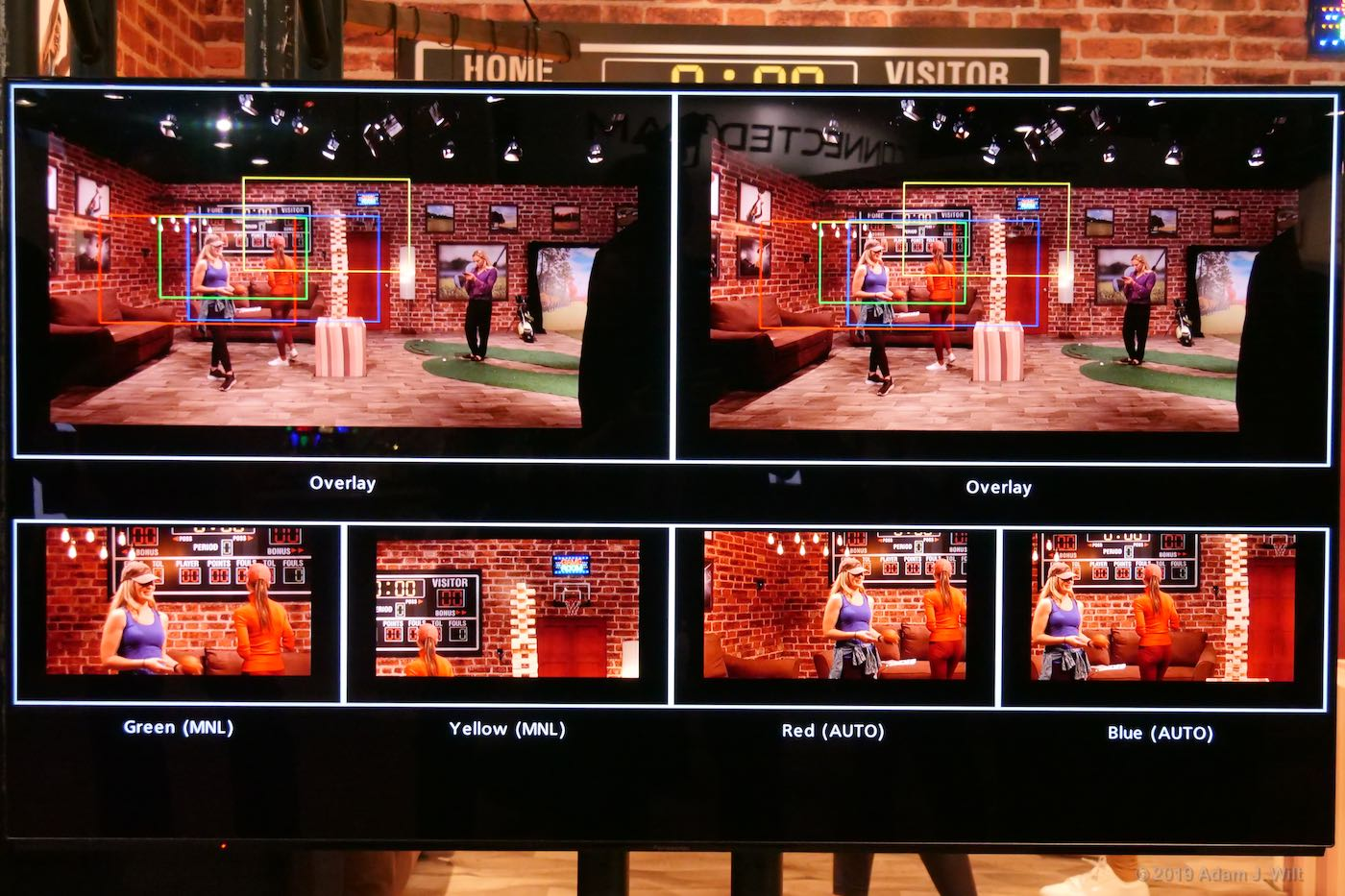 ...creates four HD feeds, either automatically or manually positioned.