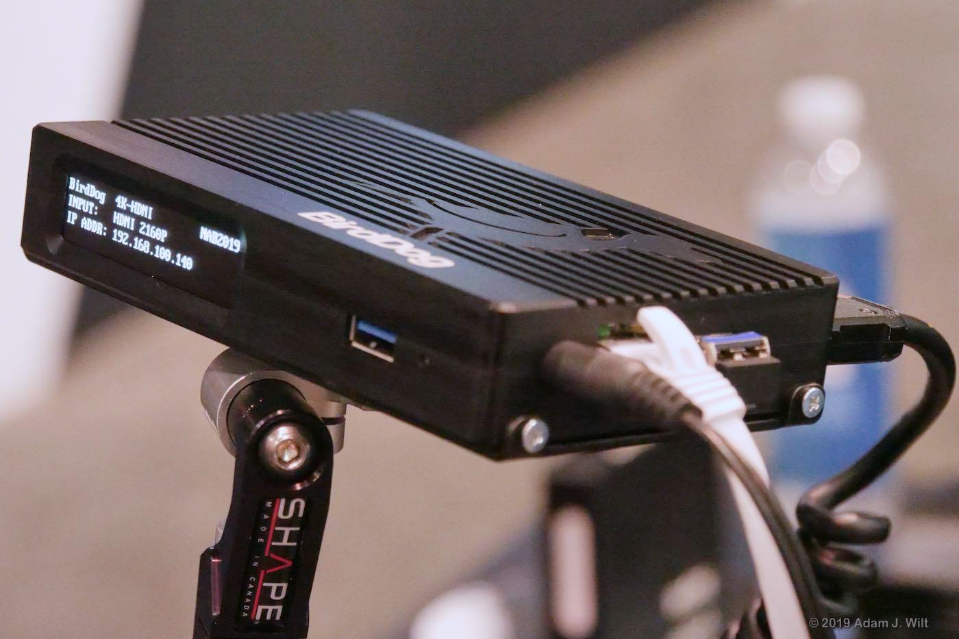 A single-channel box turns one baseband source into an NDI source.