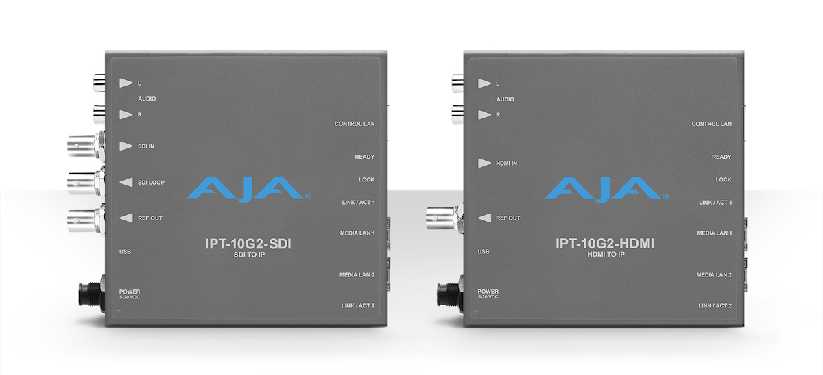 AJA at NAB 2019 introduces new and updated products including the H.264 Ki Pro GO 25