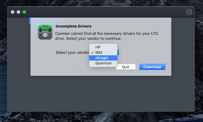 mLogic LTO8 Driver download