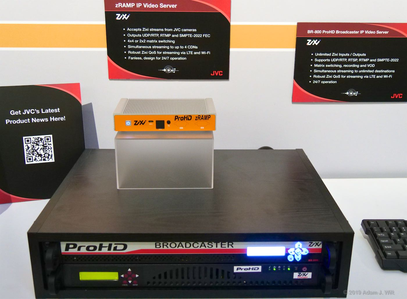 The cameras are designed to work with JVC's ProHD servers with Zixi