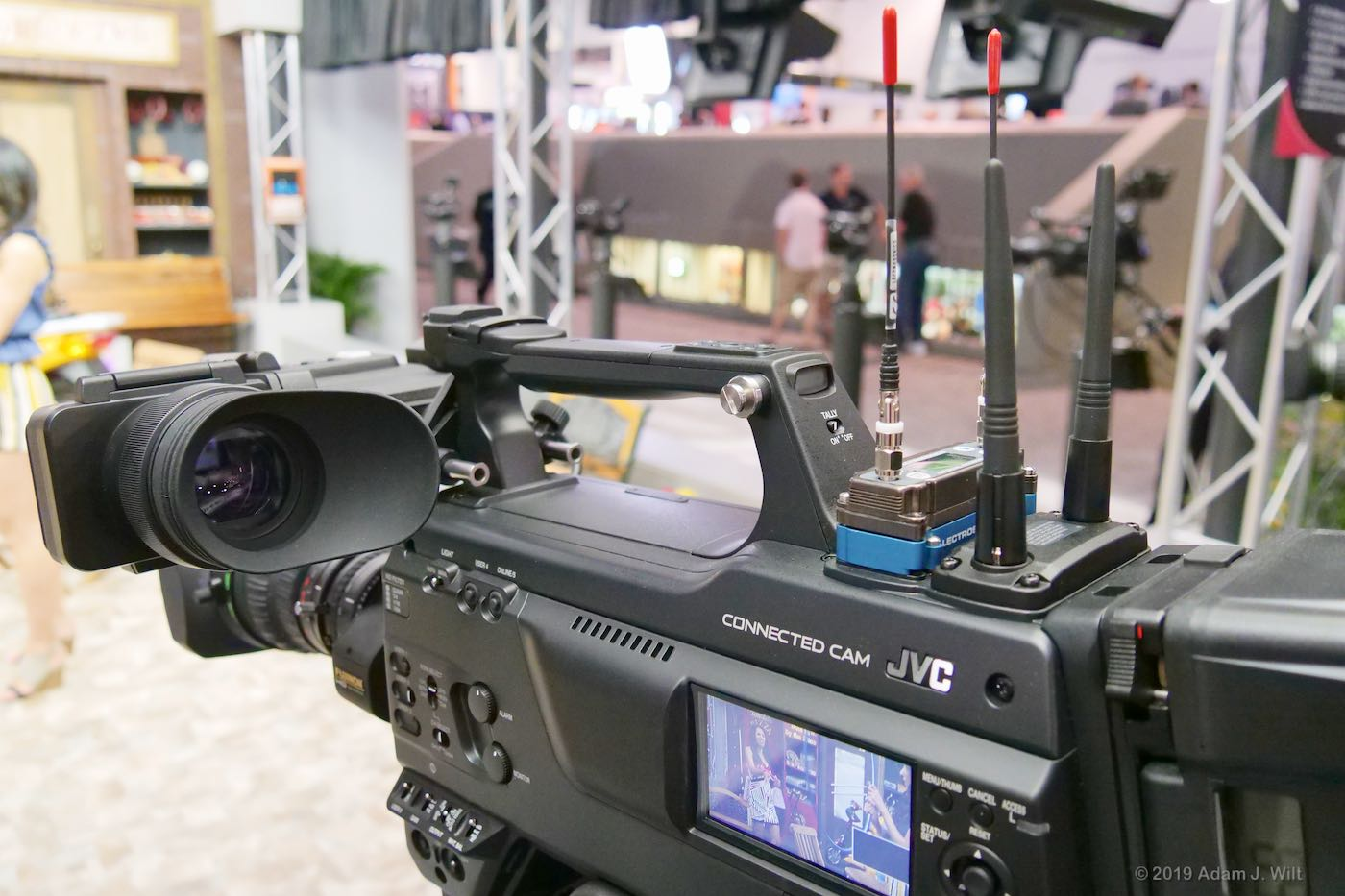 "The HC900 is a standard, 2/3"" HD camcorder with a B4 lens... and streaming, of course"