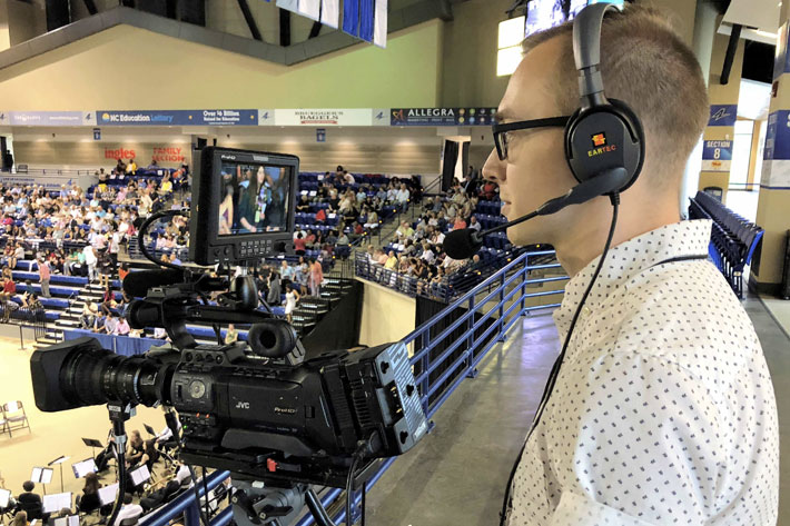Big South Conference uses 36 JVC ProHD GY-HM850 packages for streaming sports