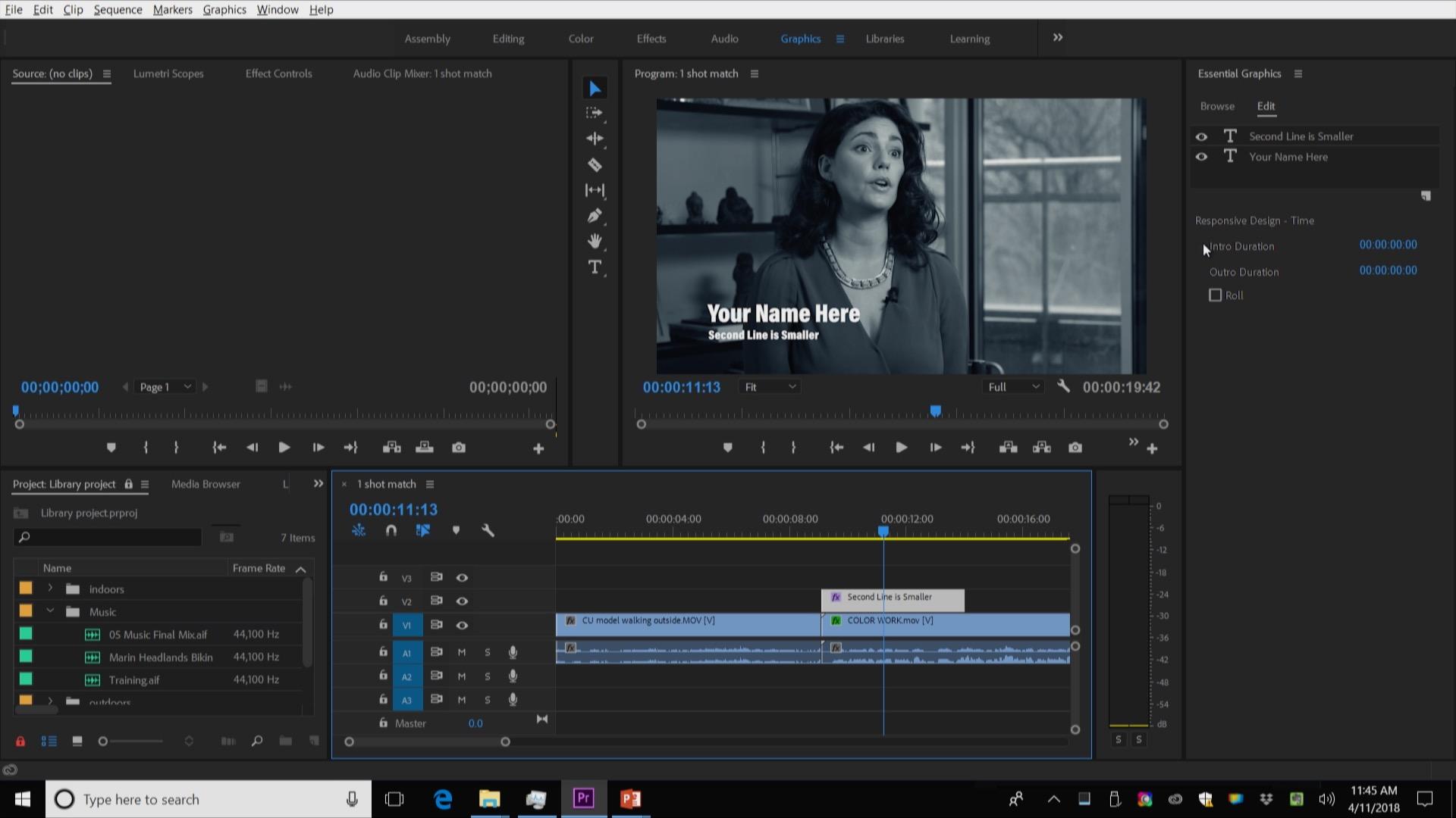 Premiere Pro - Essential Graphics Panel