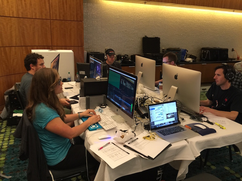 The Taillight TV CMA Music Festival post-production team hard at work.