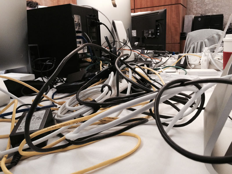 Hang a bunch of machines off the thing with lots of networking cables and it looks like the tentacles of a Jellyfish!