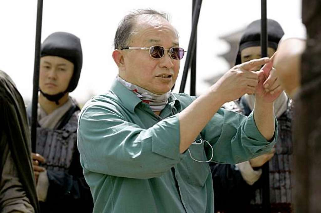 "John Woo on the set of ""Red Cliff"" (used without permission)"
