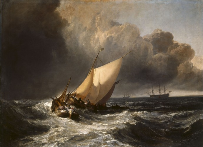 Joseph Mallord William Turner - Dutch Boats in a Gale - WGA23163
