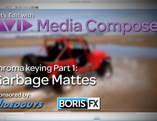 Let's Edit with Media Composer - Chroma keying Part 1 - Garbage Mattes 11