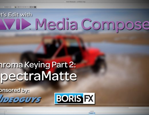 Let's Edit with Media Composer - Chroma Keying Part 2 - SpectraMatte