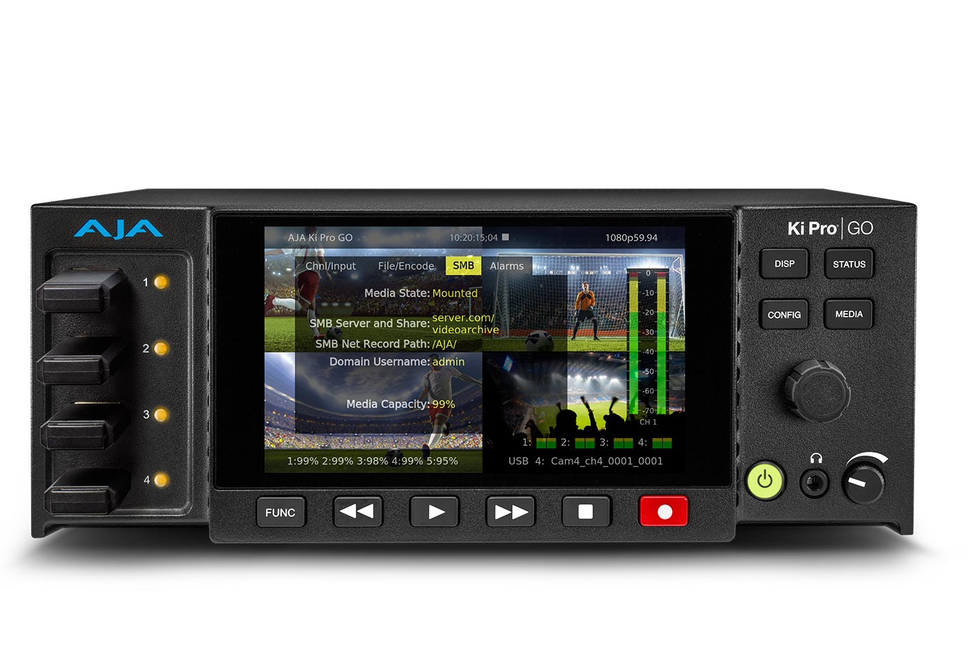 AJA Ki Pro GO v3.0 introduces expanded recording options