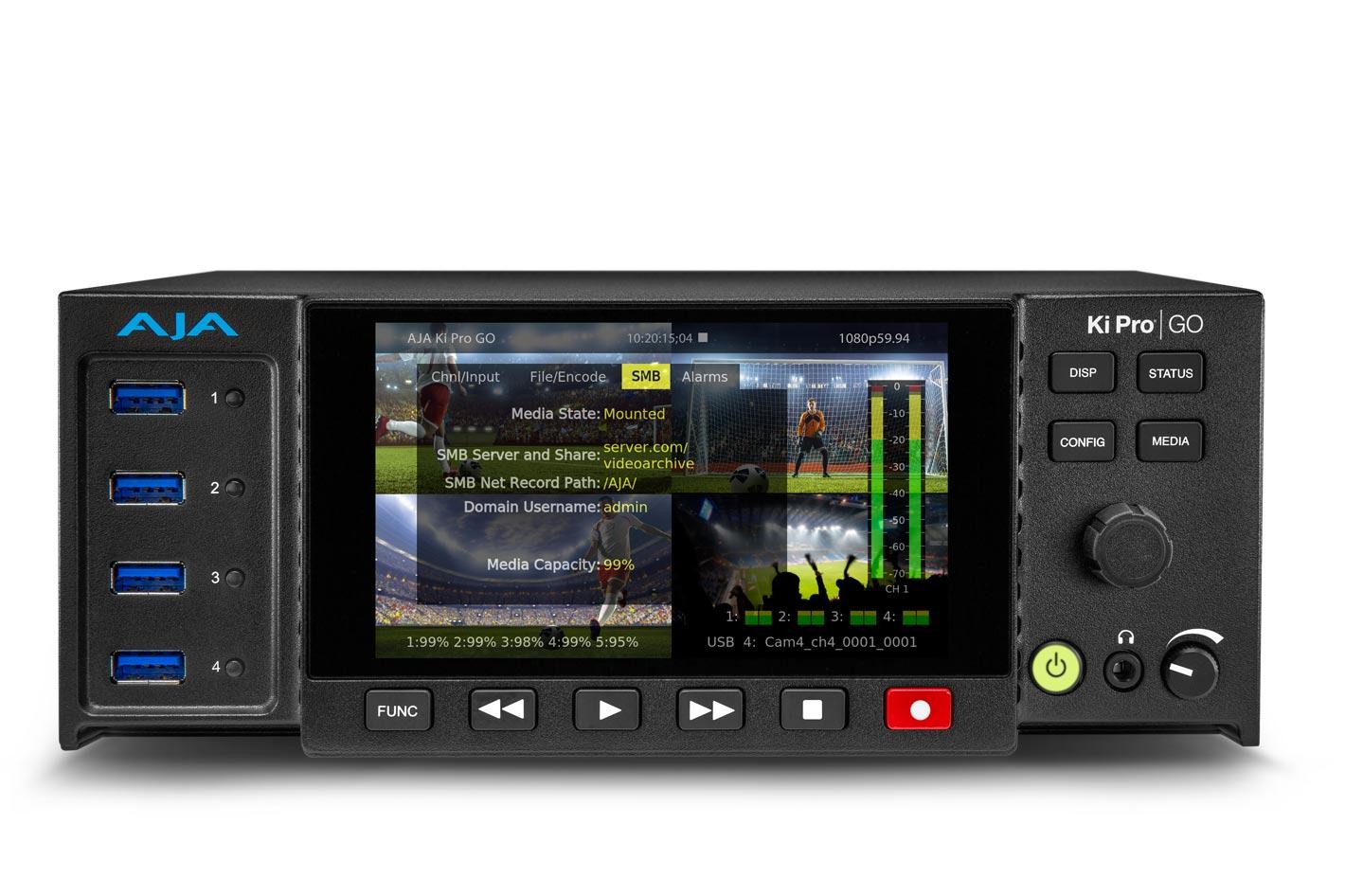 AJA Ki Pro GO v3.0 introduces expanded recording options 3