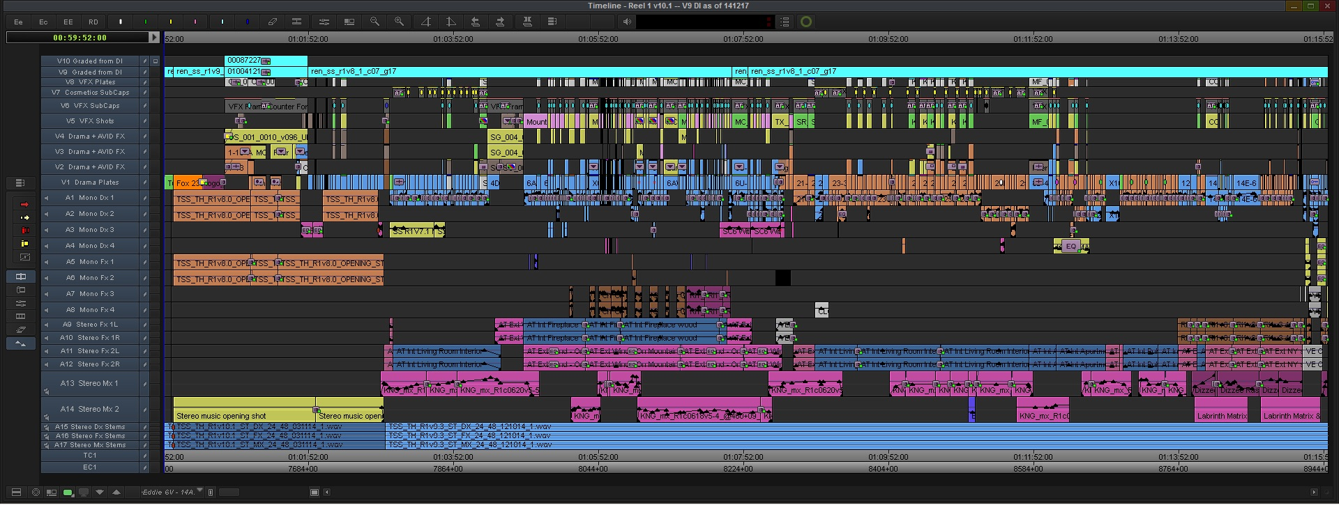 Kingsman Final Reel 1 Avid MC Timeline