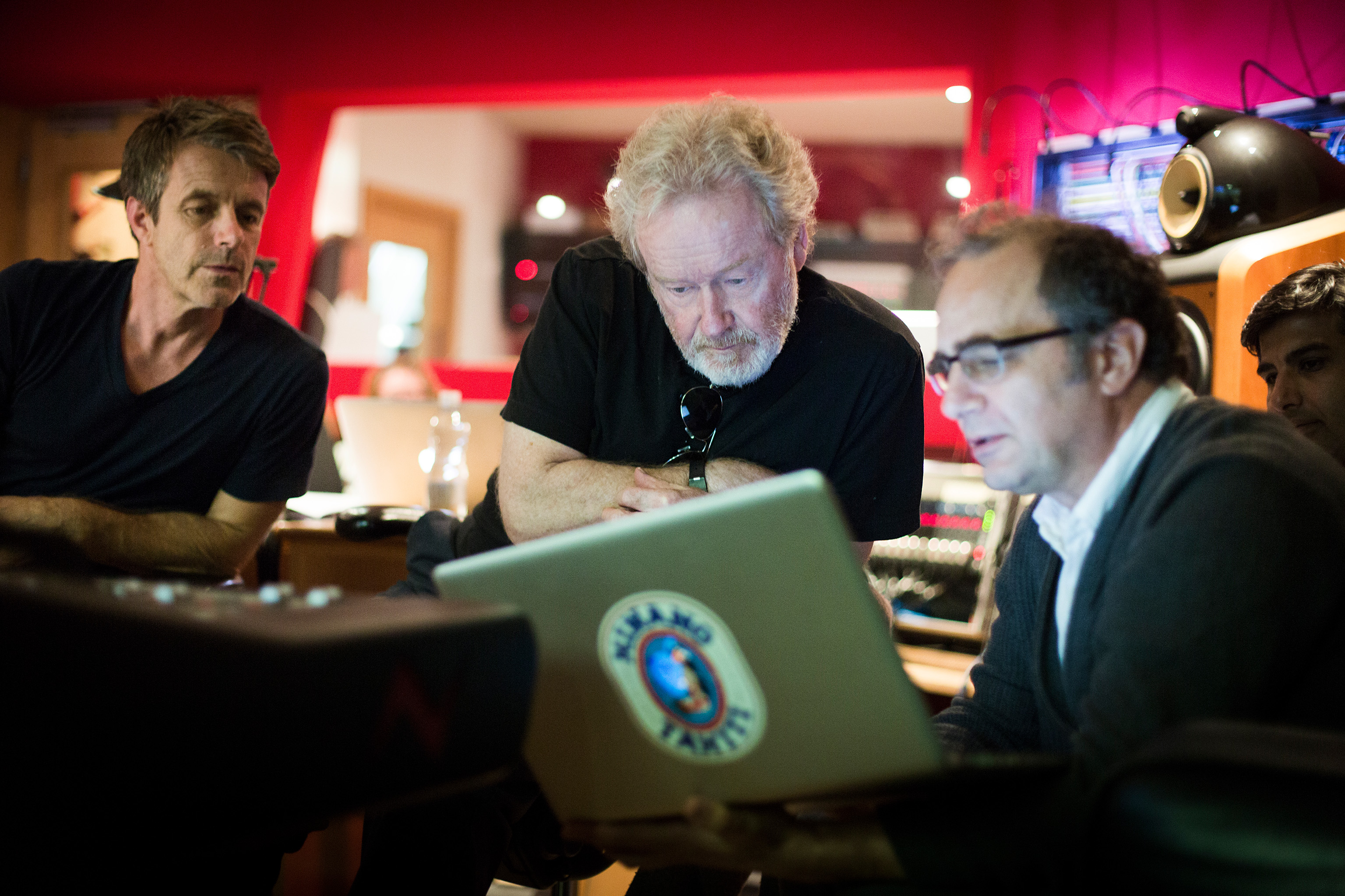 L to R Harry Gregson Williams and Ridley Scott and Pietro Scalia at Th...