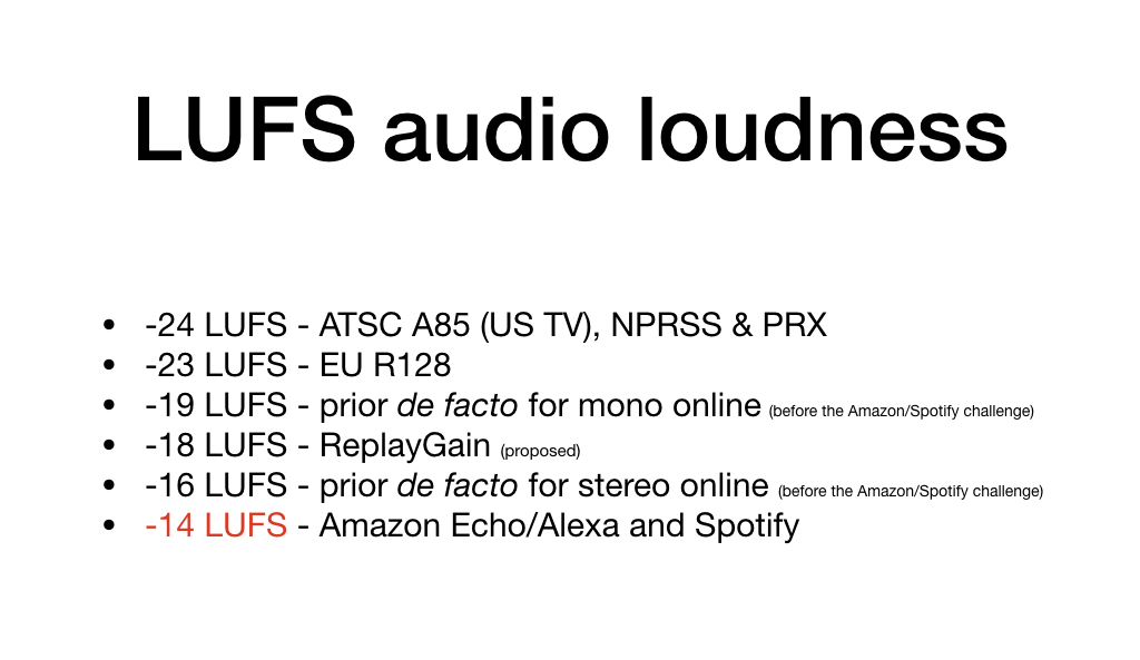 How many LUFS for ideal audio loudness? Why can't we be friends? by