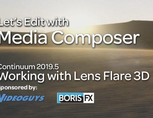 Lets Edith with Media Composer - Lens Flare 3D Thumbnail